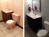 Bathroom Remodel Sink and Toilet Replacement - Before and After