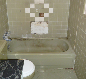 Bathroom Tub Replacement Before