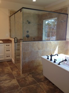 Shower Replacement, Heavy Glass Door